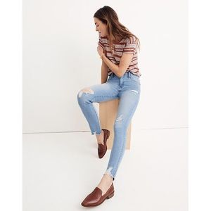Madewell High-Rise Skinny Jeans Distressed-Hem